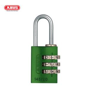 ABUS 145 Aluminium Combination Padlock 145/20-GRN-1