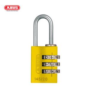 ABUS 145 Aluminium Combination Padlock 145/20-YEL-1