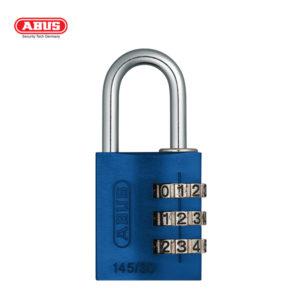 ABUS 145 Aluminium Combination Padlock 145/30-BLU-1