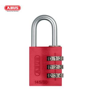 ABUS 145 Aluminium Combination Padlock 145/30-RED-1
