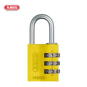 ABUS 145 Aluminium Combination Padlock 145/30-YEL-1