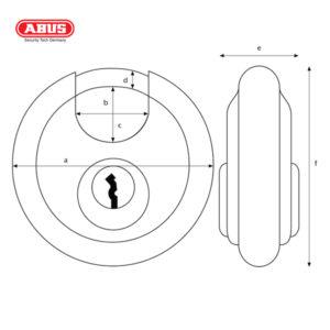 ABUS 20 Series ODP Discus Padlock 20/70-1