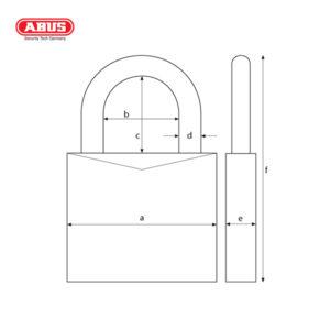 ABUS 37/55 Series Granit Padlock 37/55-1