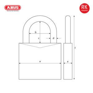 ABUS 37/80 Series Granit Padlock 37RK/80-1
