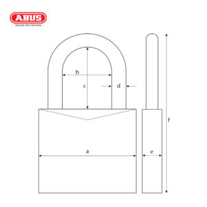ABUS 65 Series Brass Padlock