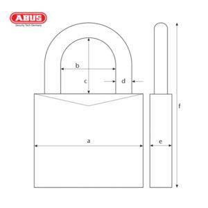 ABUS 70AL Series VC Aluminium Padlock 70AL/45-YEL-1