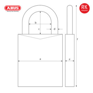 ABUS 83/55 Series Patented Padlock 83/55-1