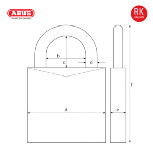 ABUS 83/80 Series Patented Padlock 83/80-1