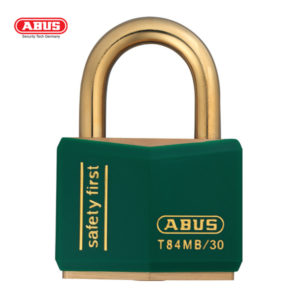 ABUS T84MB Nautic Brass Padlock T84MB/30-GRN-1