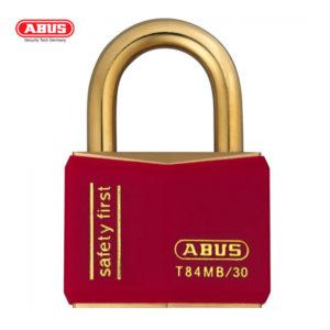 ABUS T84MB Nautic Brass Padlock T84MB/30-RED-1
