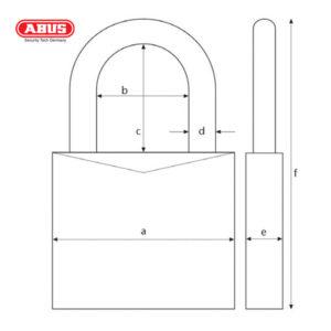 ABUS T84MB Nautic Brass Padlock T84MB/30-BLK-1