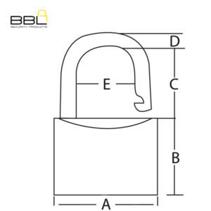 BBL Closed Shackle Brass Padlock BBP940CS-1