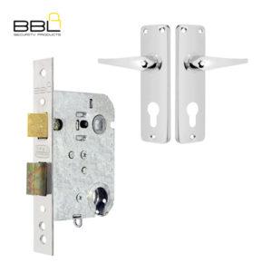 BBL Euro Cylinder Mortice Lockset BLS582-05-222CH
