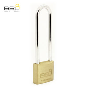 BBL Long Shackle Brass Padlock BBP940LS90-1