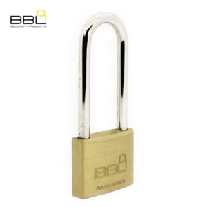 BBL Long Shackle Brass Padlock BBP950LS76-1