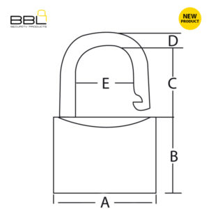 BBL Plastic Covered Brass Padlock BBP940BLU-1