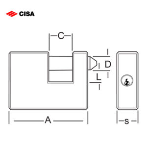 CISA Brass Insurance Padlocks 21610-50