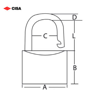 CISA Brass Locking Line Padlock 21010-20