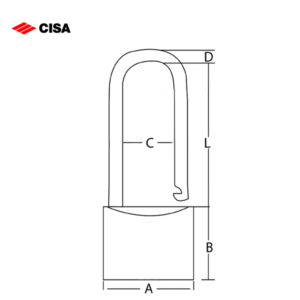 CISA Long Shackle Brass Padlock 22010-30