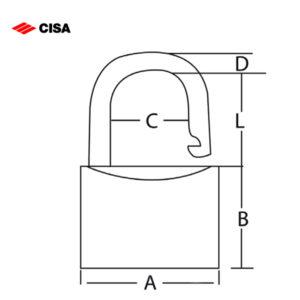 CISA Marine Coated Padlock 26020-30