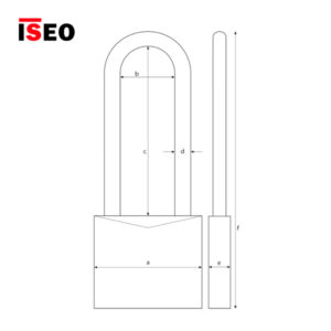 ISEO Long Shackle Brass Padlocks 802307