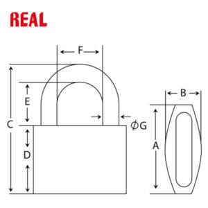 REAL Zinc Brass Padlock RL-8032