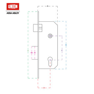 UNION 3 Lever Deadlock Mortice Lock 2157-78PL