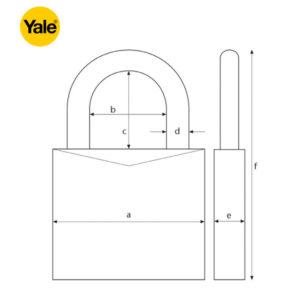 YALE Closed Shackle Padlock Y121-40-125-1