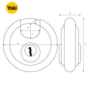 YALE Discus Padlock Y130-70-116-1