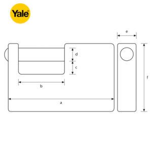 YALE Insurance Padlock Y124-60-110-1
