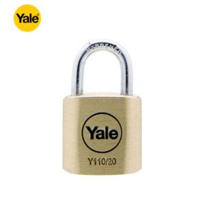 YALE Standard Brass Padlock Y110-20-111-1