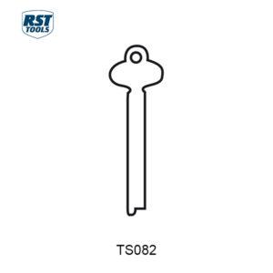 RST Flat Steel Key Blanks TS082