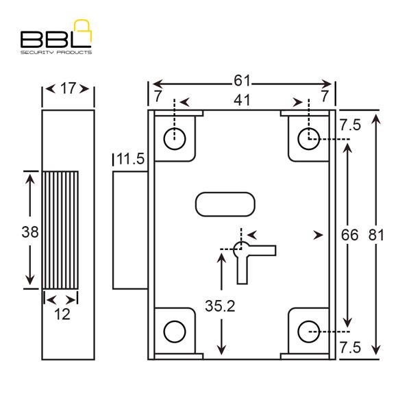 bbl 7 lever safe lock bbln8 bbl security products rh bblsa co za Lock Parts Diagram safe lock diagram