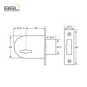 BBL Elzett 700D Deadbolt Gate Lock 700D