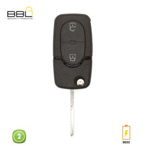 BBL Key Shells Audi Shape 2 Button KSC-AU-09