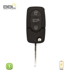 BBL Key Shells Audi Shape 3 Button KSC-AU-07