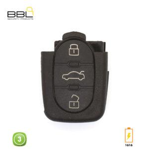 BBL Key Shells Audi Shape 3 Button KSC-AU-16