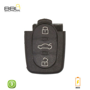 BBL Key Shells Audi Shape 3 Button KSC-AU-20