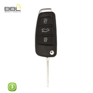 BBL Key Shells Audi Shape 3 Button KSC-AU-22A