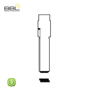 BBL Key Shells Audi Shape 3 Button KSC-AU-22B