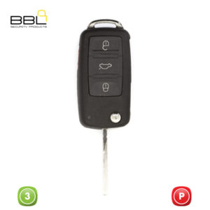 BBL Key Shells Audi Shape 3 Button KSC-AU-30