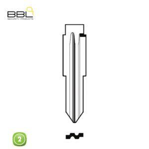 BBL Key Shells Chevrolet Shape 2 Button KSC-CHEV-12A