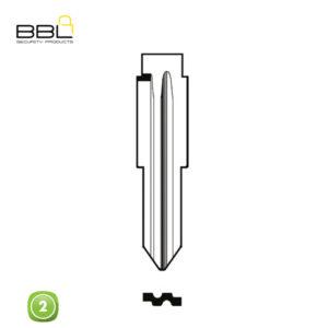BBL Key Shells Chevrolet Shape 2 Button KSC-CHEV-12B