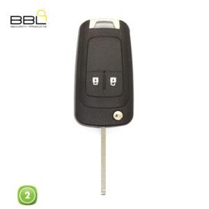 BBL Key Shells Chevrolet Shape 2 Button KSC-CHEV-14A