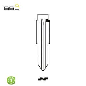 BBL Key Shells Chevrolet Shape 3 Button KSC-CHEV-11