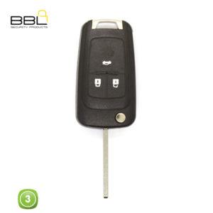 BBL Key Shells Chevrolet Shape 3 Button KSC-CHEV-14B