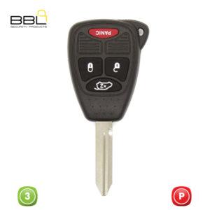 BBL Key Shells Chrysler Shape 3 Button KSC-CHRY-11