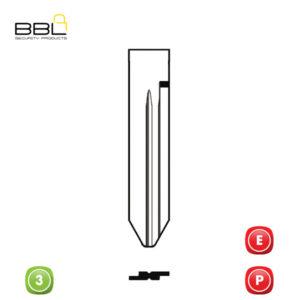 BBL Key Shells Chrysler Shape 3 Button KSC-CHRY-27