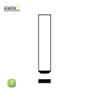 BBL Key Shells Citroen Shape 2 Button KSC-CIT-01A