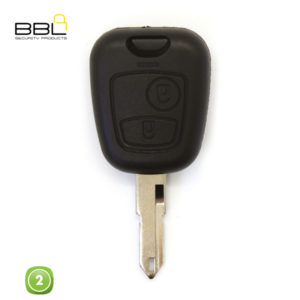 BBL Key Shells Citroen Shape 2 Button KSC-CIT-28B